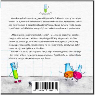 """Knyga """"Mėgintuvėlio eksperimentinės kelionės"""" 7"""