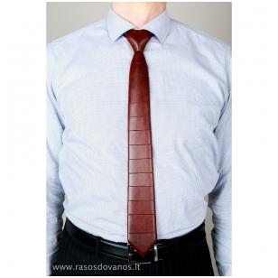 Rankų darbo kaklaraištis iš egzotiškos Bagossi medienos