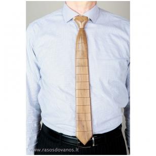 Rankų darbo medinis amerikietiško riešutmedžio medienos kaklaraištis