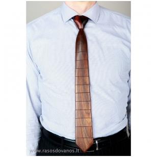 Rankų darbo medinis kaklaraištis pagamintas iš amerikietiško riešuto ir Ebony Amara medienos