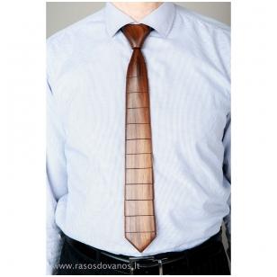 Rankų darbo medinis riešutmedžio kaklaraištis