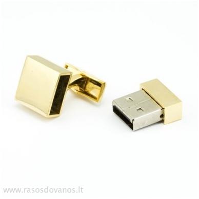 """Sąsagos """"USB"""" 8GB auksinės 3"""